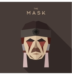 Mask goodies flat style abstraction vector