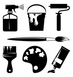 paint icons vector image vector image