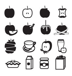 apple product icons set vector image vector image
