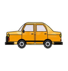 car side view icon gray automobile vehicle vector image