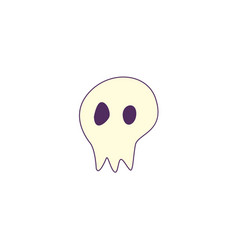 flat halloween skull ghost vector image