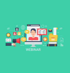 flat modern concept webinar banner with vector image vector image