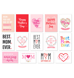 mothers day cards set vector image vector image