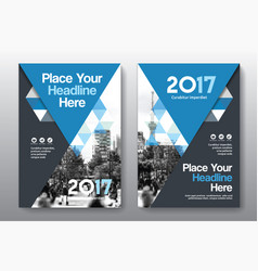 blue color scheme business book cover design vector image