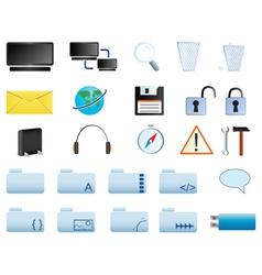 computer icons set web20 vector image vector image
