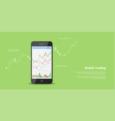 mobile trading banner vector image