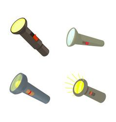 pocket light icon set cartoon style vector image