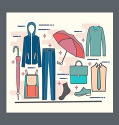 set of Fashion collection of man wardrobe vector image