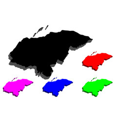 3d map of honduras vector