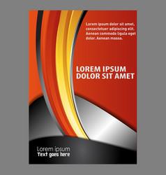 Abstract modern flyer brochure design tem vector