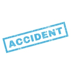 Accident Rubber Stamp vector