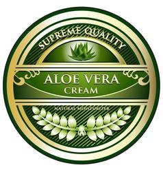 Aloe vera cream label vector