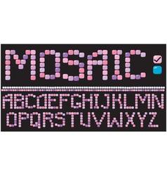 Alphabet - mosaic letters vector image