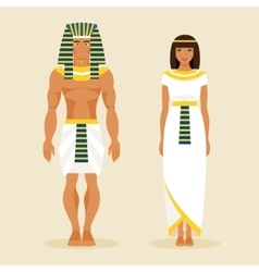 Ancient Egyptian man and a woman vector