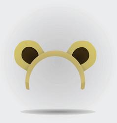 Bear ears mask vector