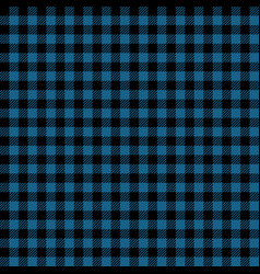 Blue and black lumberjack seamless pattern vector