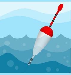 Bobber in water vector