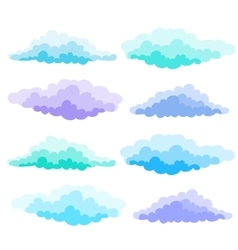 Cartoon Color Clouds Set of a vector image
