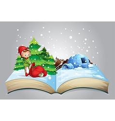 Christmas book vector image