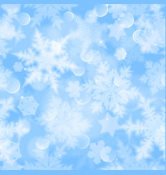 christmas seamless pattern blurred snowflakes vector image