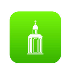 church icon digital green vector image