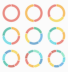 Circle arrows for infographic template vector