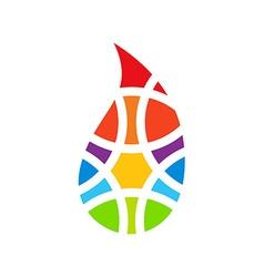 Colorful drop logo Colored drop logo Drop logo vector image