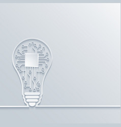 concept light bulb with circuit board vector image