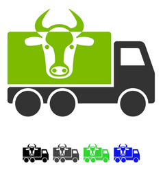 cow transportation flat icon vector image