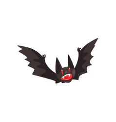 Creepy vampire bat on a white vector