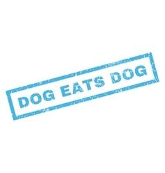Dog Eats Dog Rubber Stamp vector