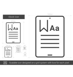 Ebook line icon vector