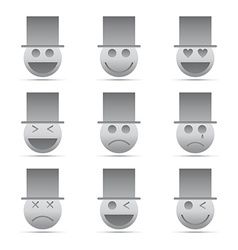 Emotion icon set vector