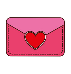 envelope with heart card vector image