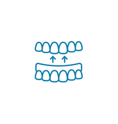 false jaw linear icon concept false jaw line vector image