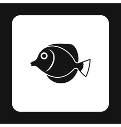 Fish butterfly icon simple style vector image