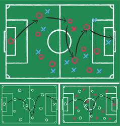 Game plans for football on green paper vector