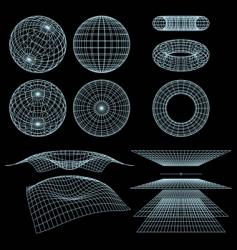 Geometry wireframe vector