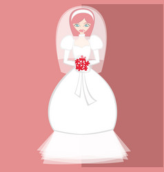 Girls in bride costume no10 vector