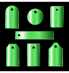 Green labels vector
