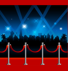 Hollywood red carpet background vector