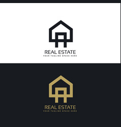 House logo design in clean minimal style vector