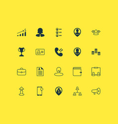 Human icons set with hierarchy navigation vector