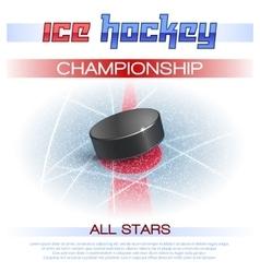 Ice Hockey Poster vector