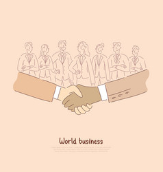 international economic cooperation business vector image