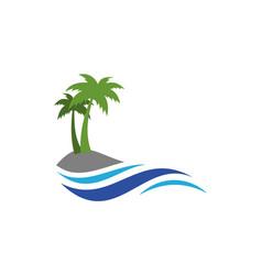 island logo design icon concept vector image