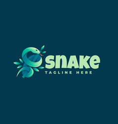 Logo snake gradient colorful style vector
