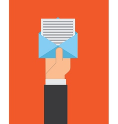 Mail design over red background vector