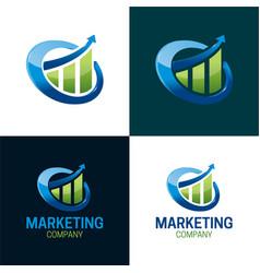 marketing company logo and icon vector image