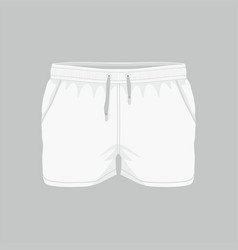 mens white sport shorts vector image